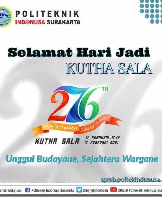 The 276th Anniversary of Kutha Sala