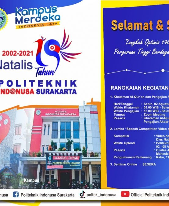 19th Anniversary of Polytechnic Indonusa Surakarta