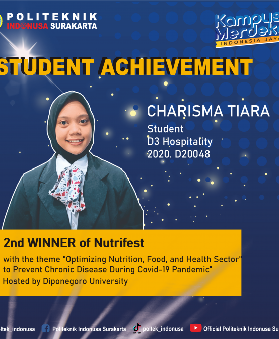 D3 Hospitality Student Successfully Wins 2nd Place in the Nutrifest Competition