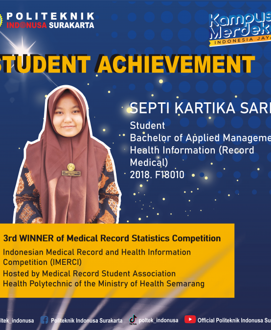 Health Information Management Student Won 3rd Place in Medical Record Statistics Competition