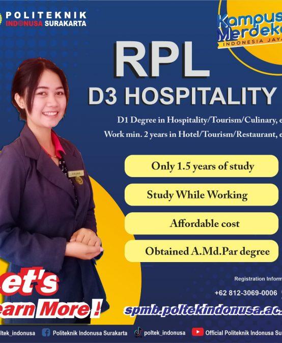 RPL D3 Hospitality Class